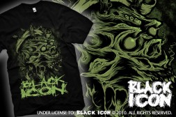 MICON009 BLACK - chaotic skull