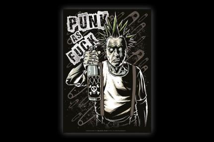 STICON027 BLACK old punk
