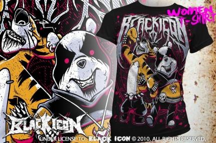 DICON041 black metal maskot