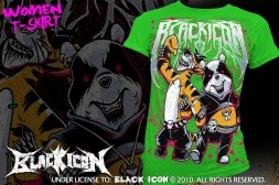 DICON041 KELLY GREEN - black metal maskot