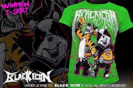 DICON041 KELLY GREEN - black metal maskot