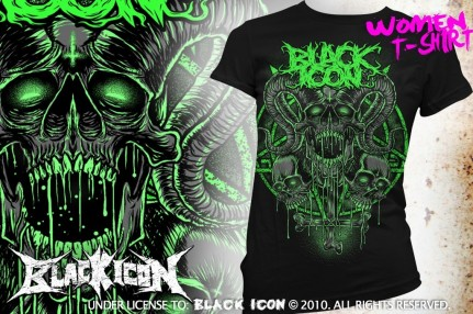 DICON071 BLACK - radioactive skull