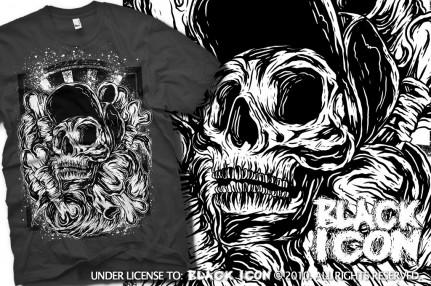 MICON035 LIGHT GRAPHITE - skate skull