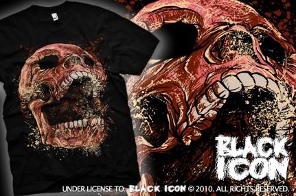 MICON034 BLACK - skull